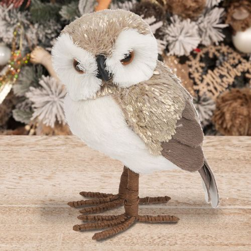 Owl Figurine Christmas Ornament Woodland Christmas Decor